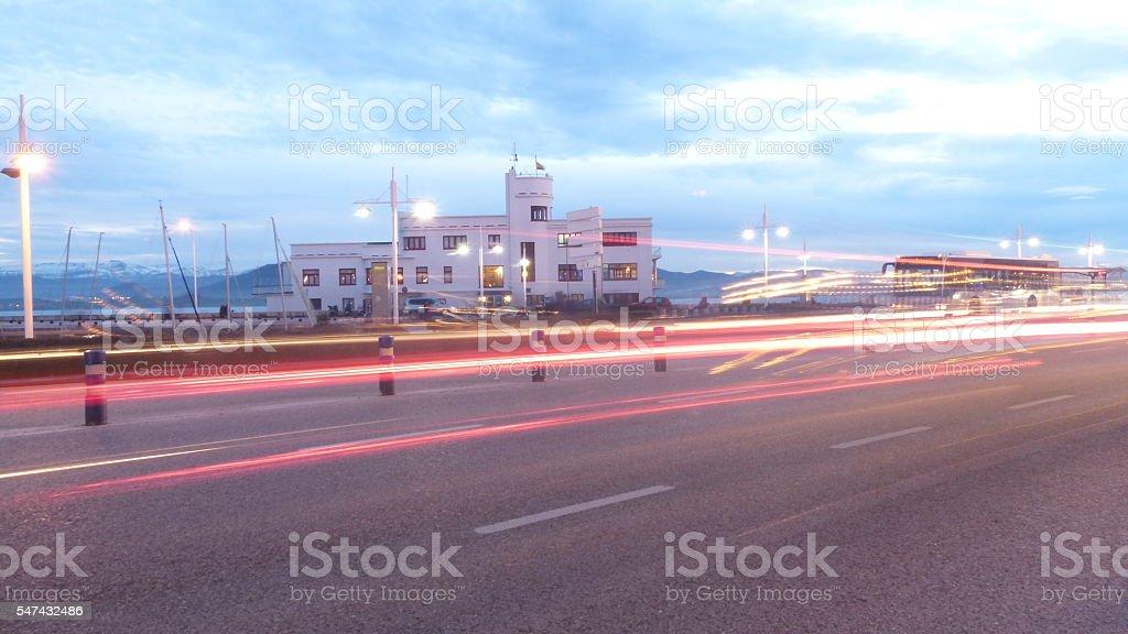Traffic trails stock photo