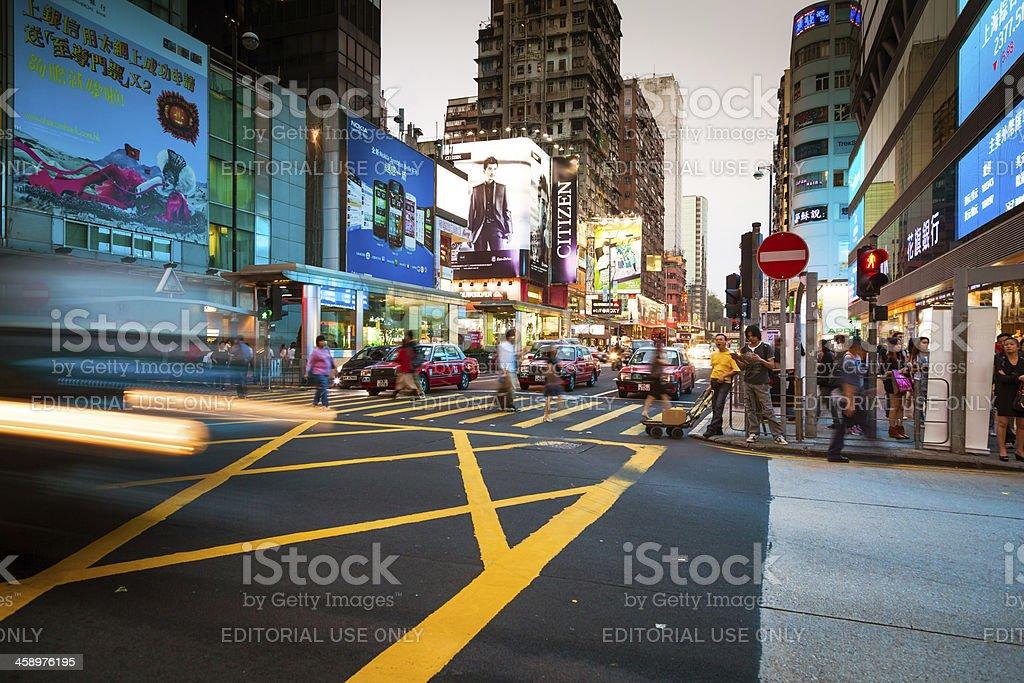 Traffic trough Hong Kong stock photo