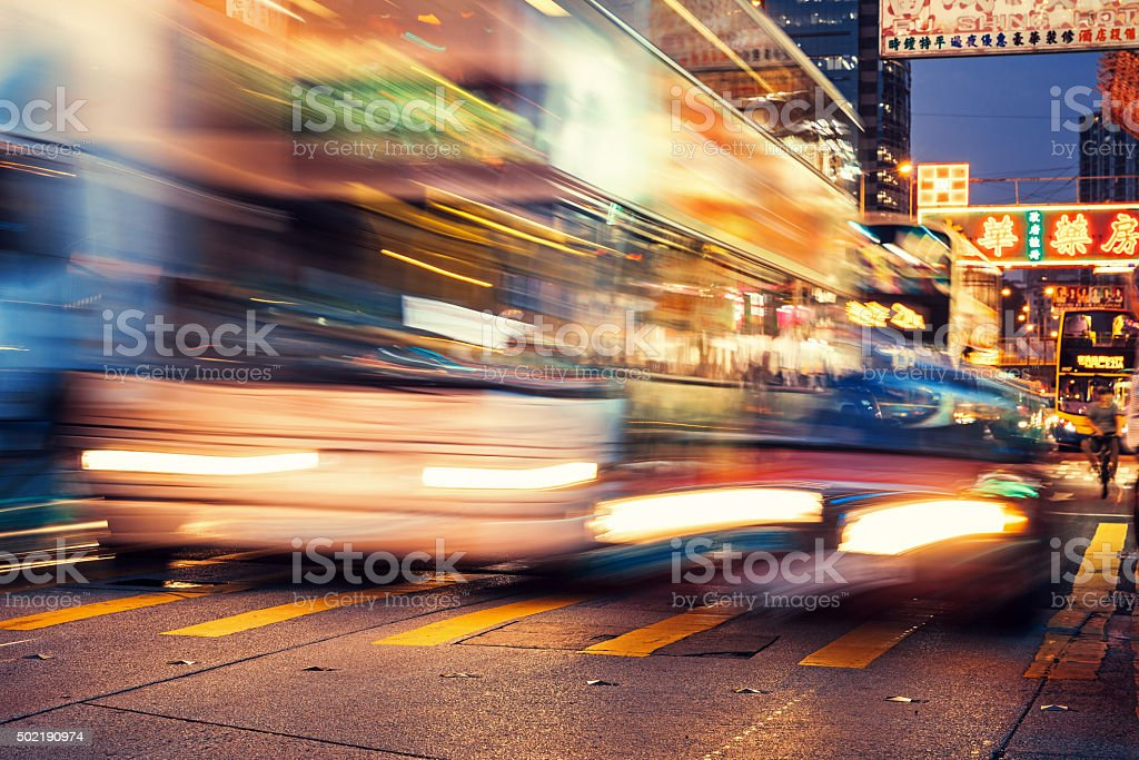 Traffic trough Hong Kong stock photo