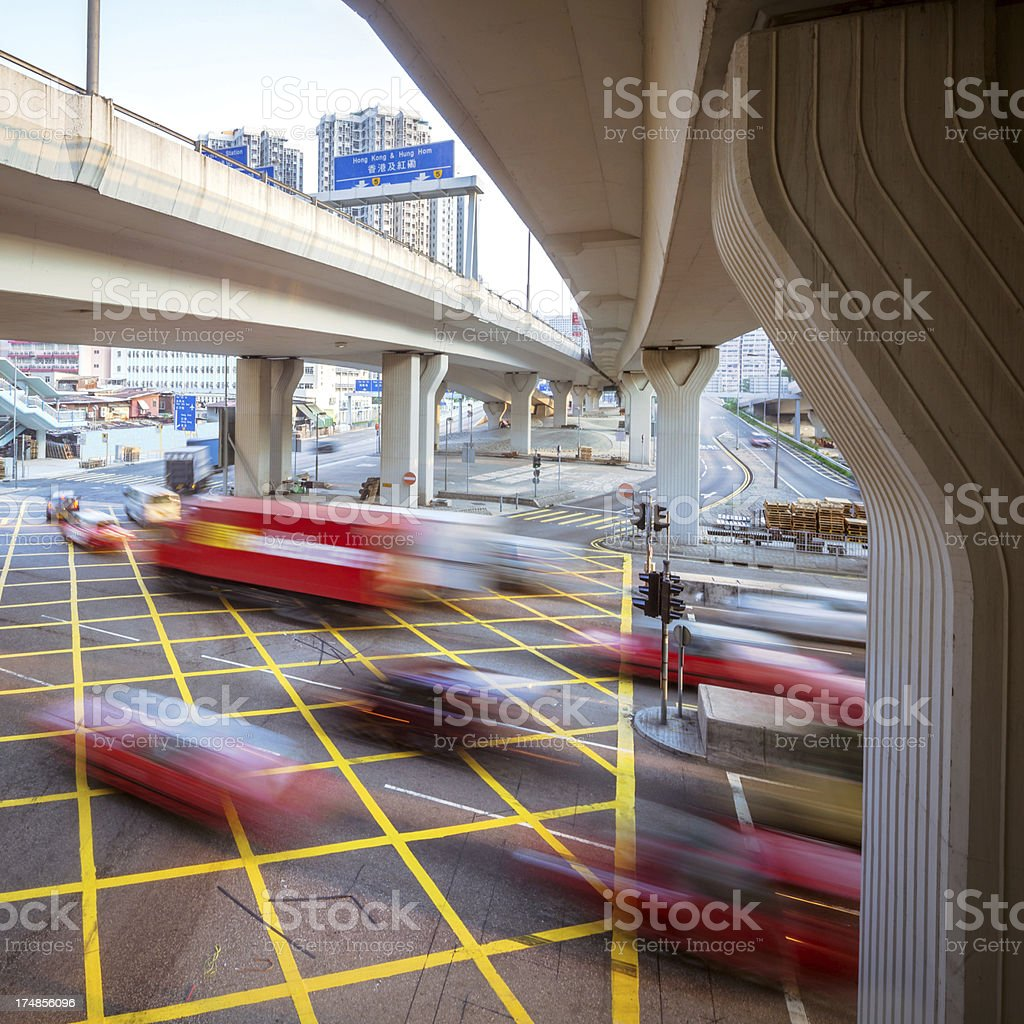 Traffic trough HongKong royalty-free stock photo