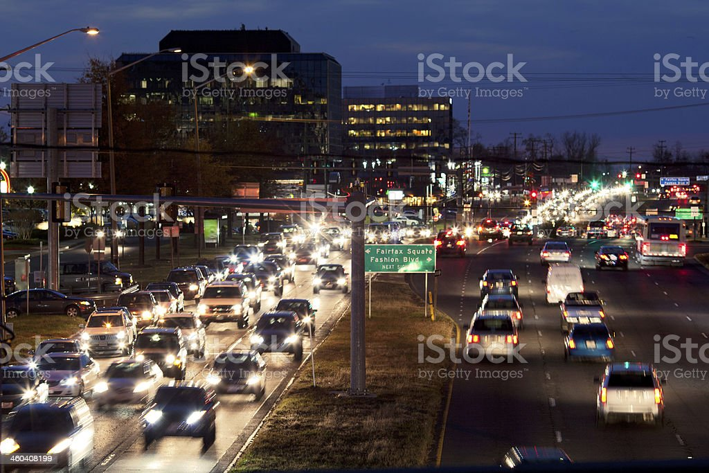 Traffic Tysons Corner stock photo