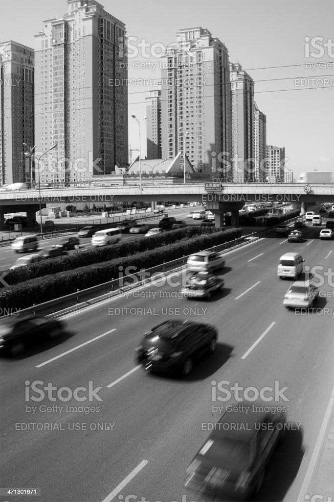 Traffice in Beijing stock photo