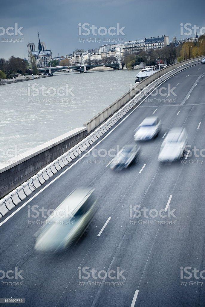 Trafic in Paris stock photo