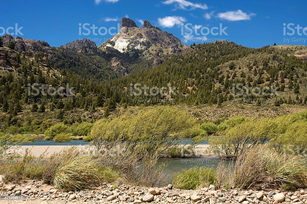 'Traful' River in Patagonia royalty-free stock photo