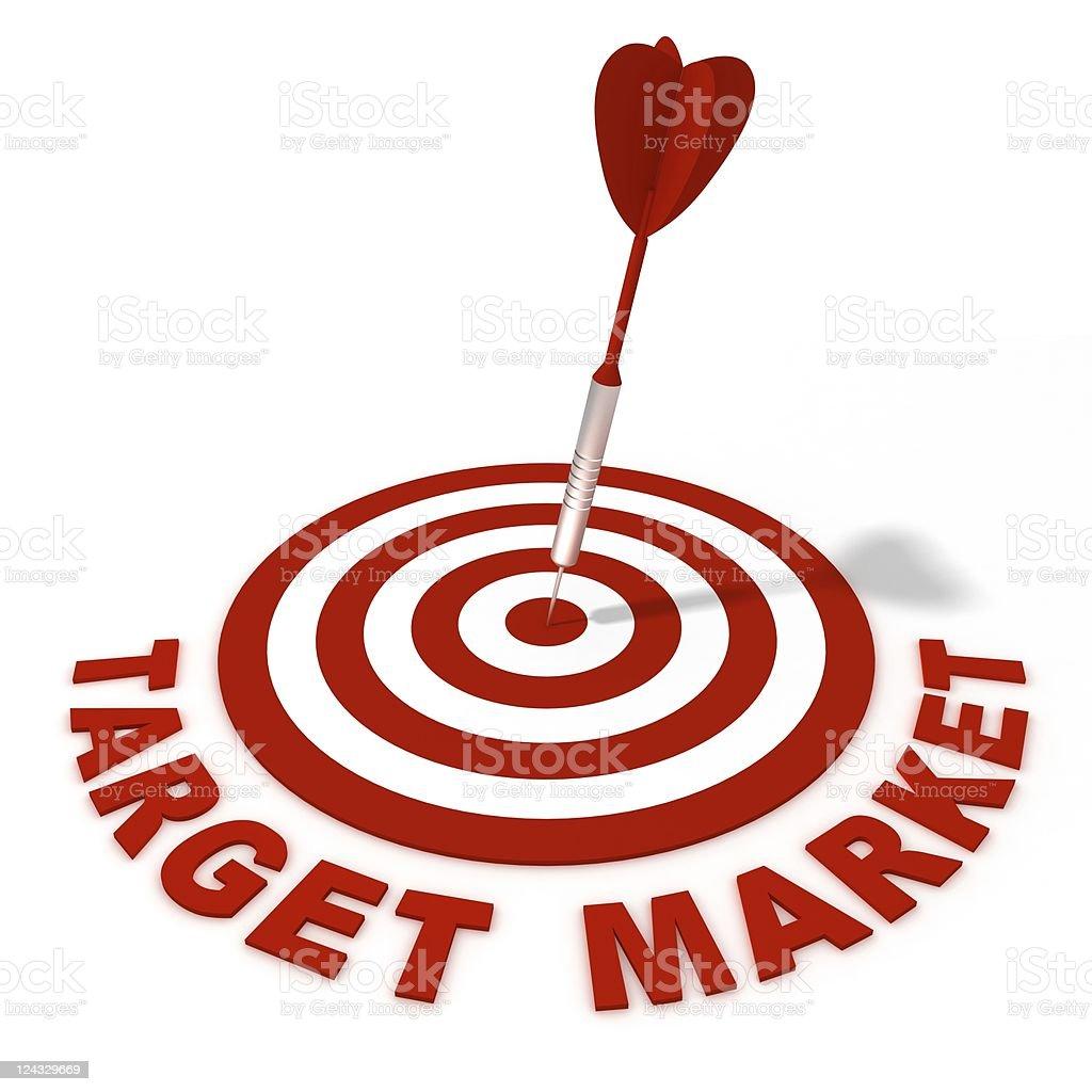 Traget Market stock photo