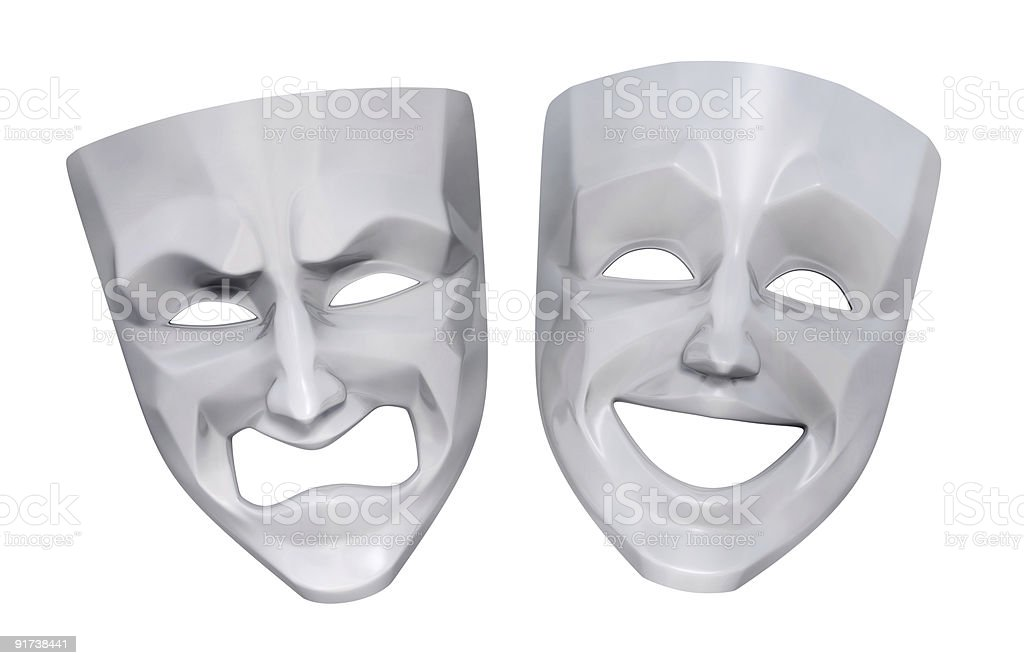 Tragicomic Theater Masks stock photo