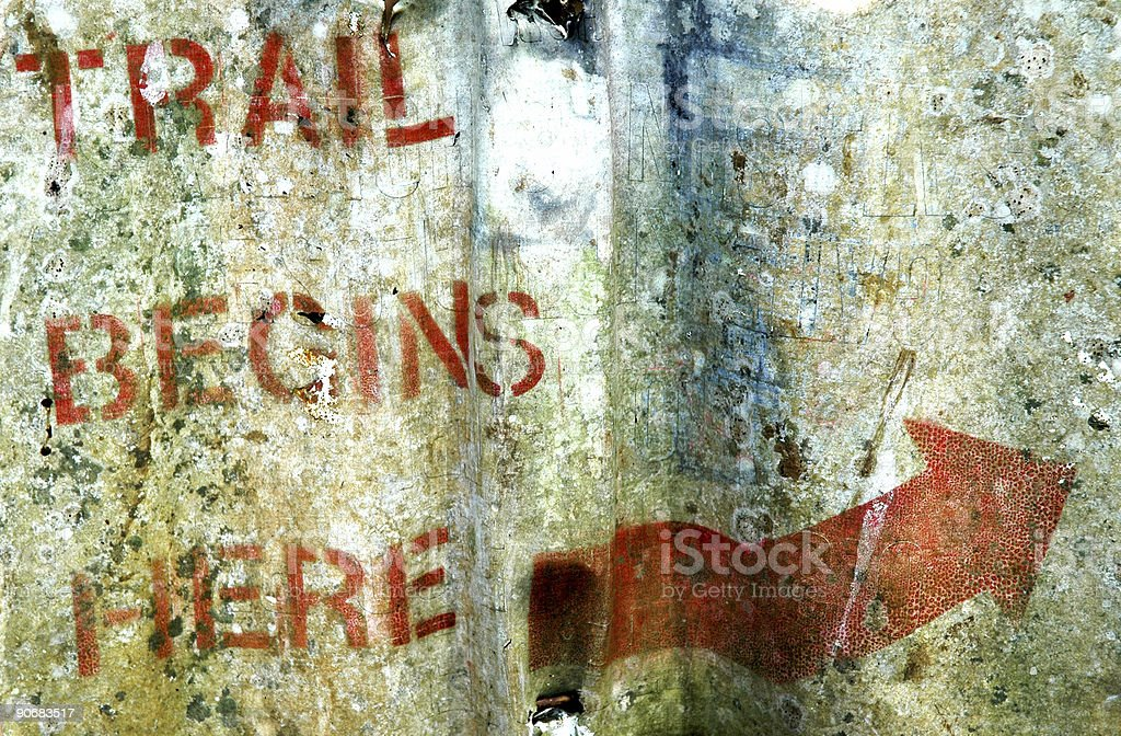Trail Begins Here royalty-free stock photo