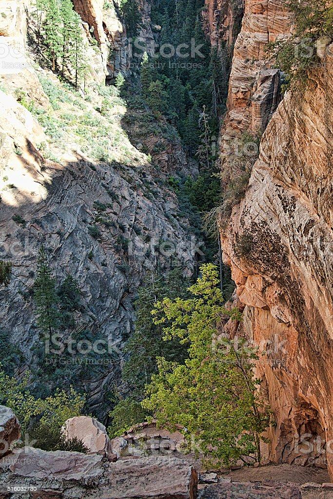 Trail Below stock photo