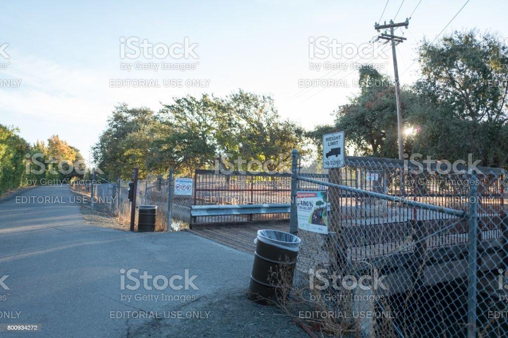 Trail Bridge stock photo