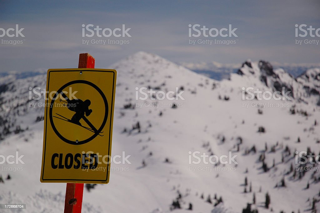 Trail Closed royalty-free stock photo
