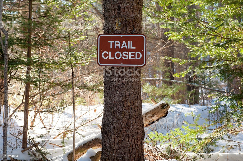 Trail Closed sign stock photo