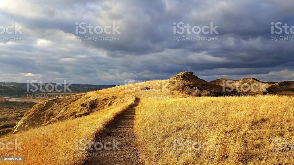 Trail In A National Park stock photo