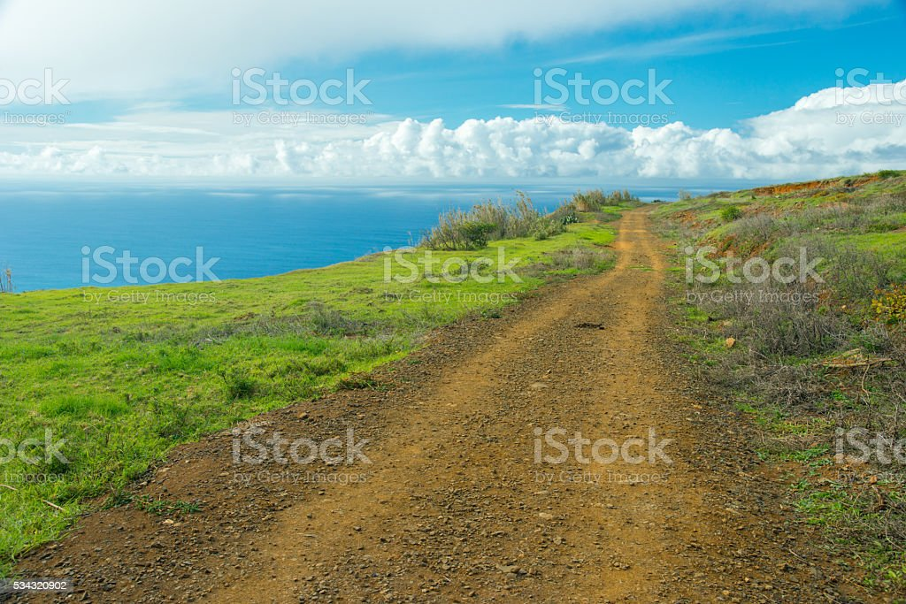 trail in a wonderful adventure stock photo