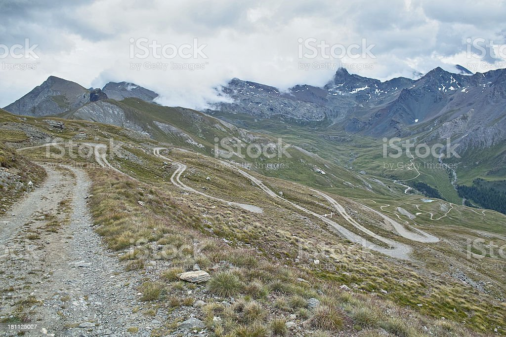 trail in alpes royalty-free stock photo