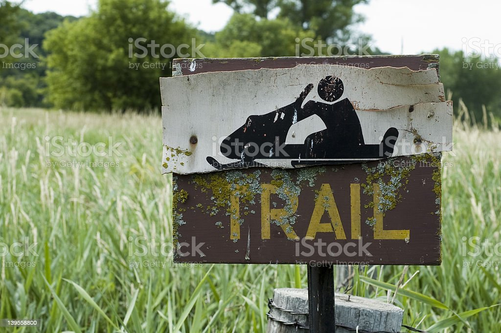 Trail in Iowa royalty-free stock photo