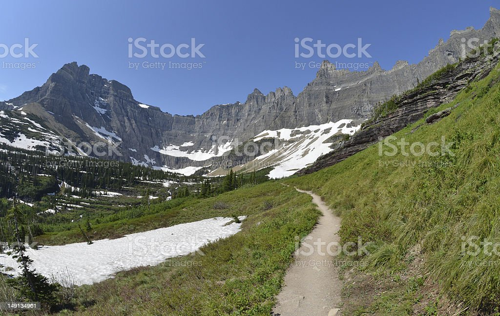 Trail in the mountains royalty-free stock photo