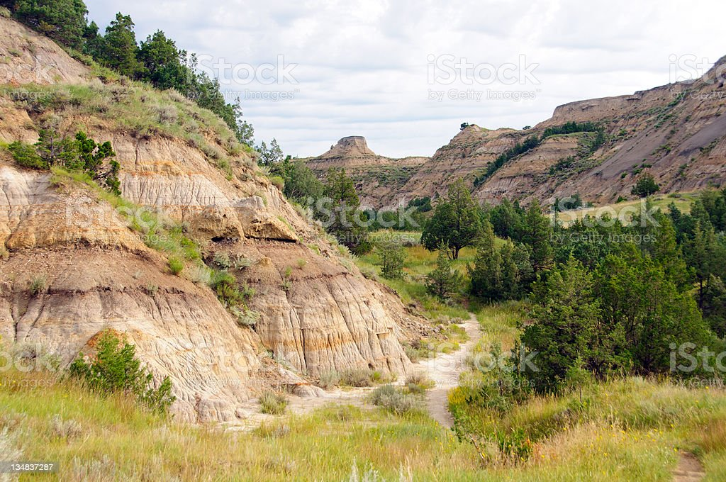 Trail into the Badlands royalty-free stock photo