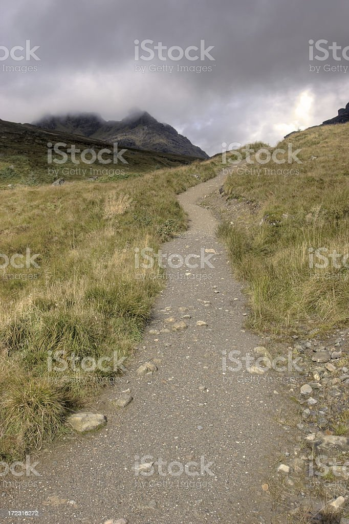 Trail Into The Mountains royalty-free stock photo