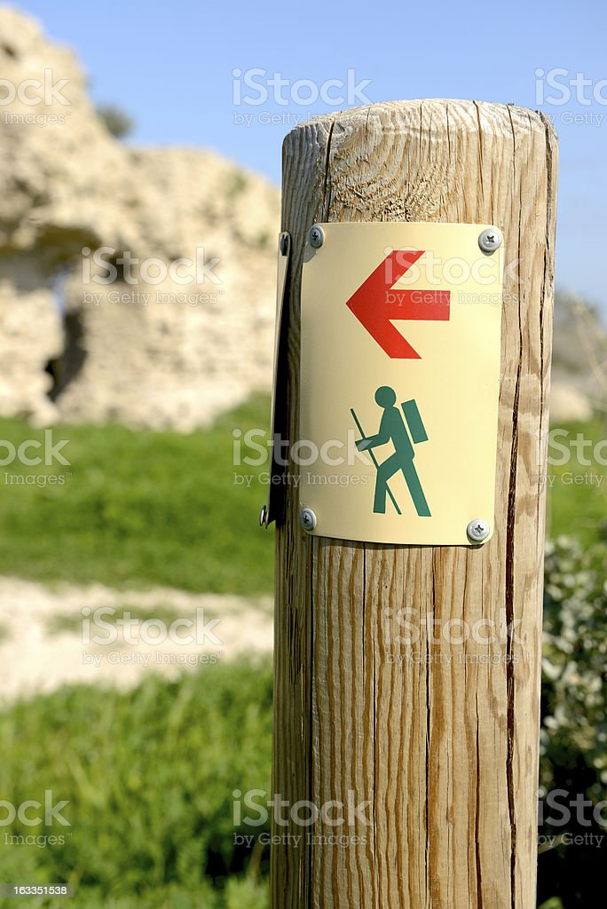trail marker royalty-free stock photo