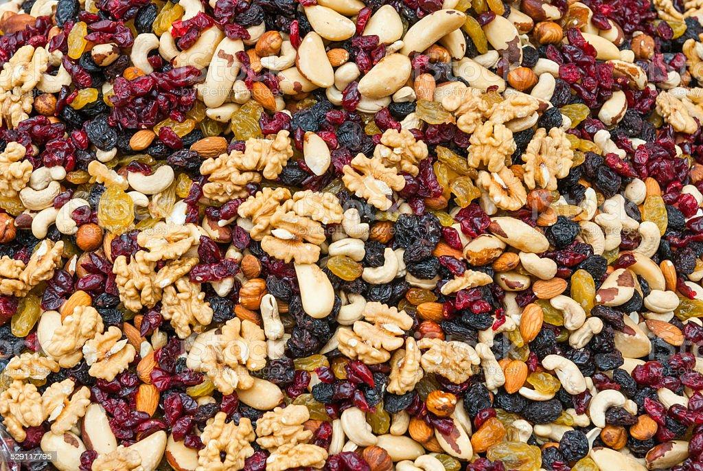 trail mix stock photo