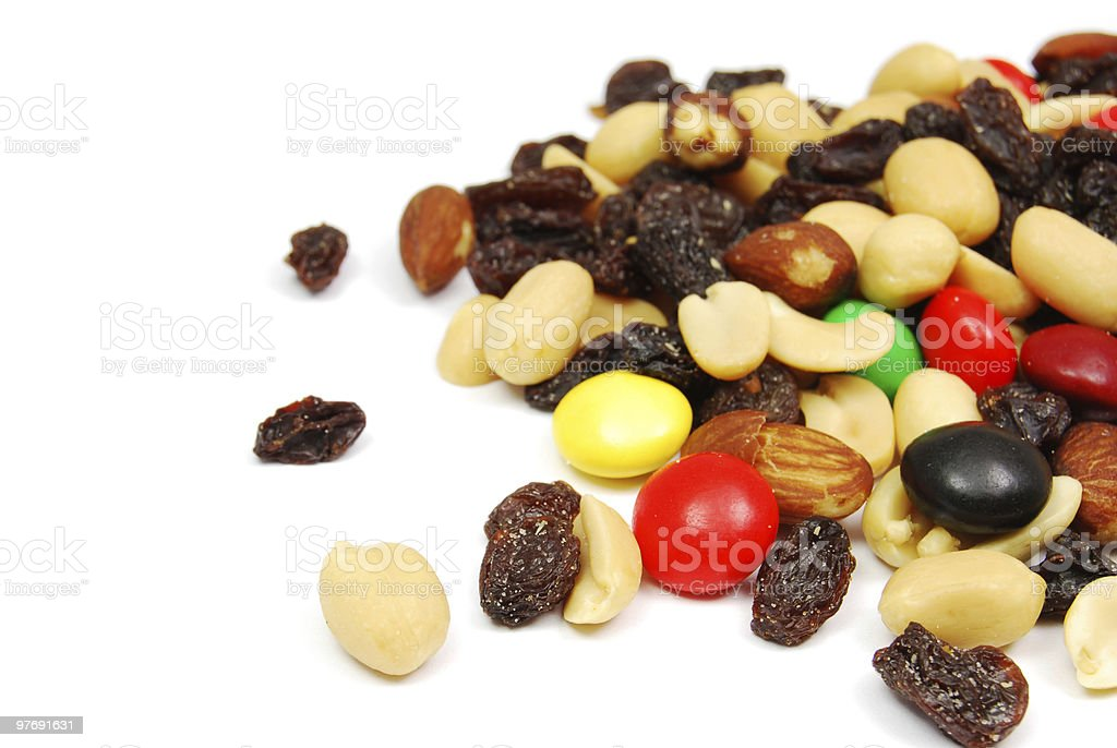 Trail Mix Scattered stock photo