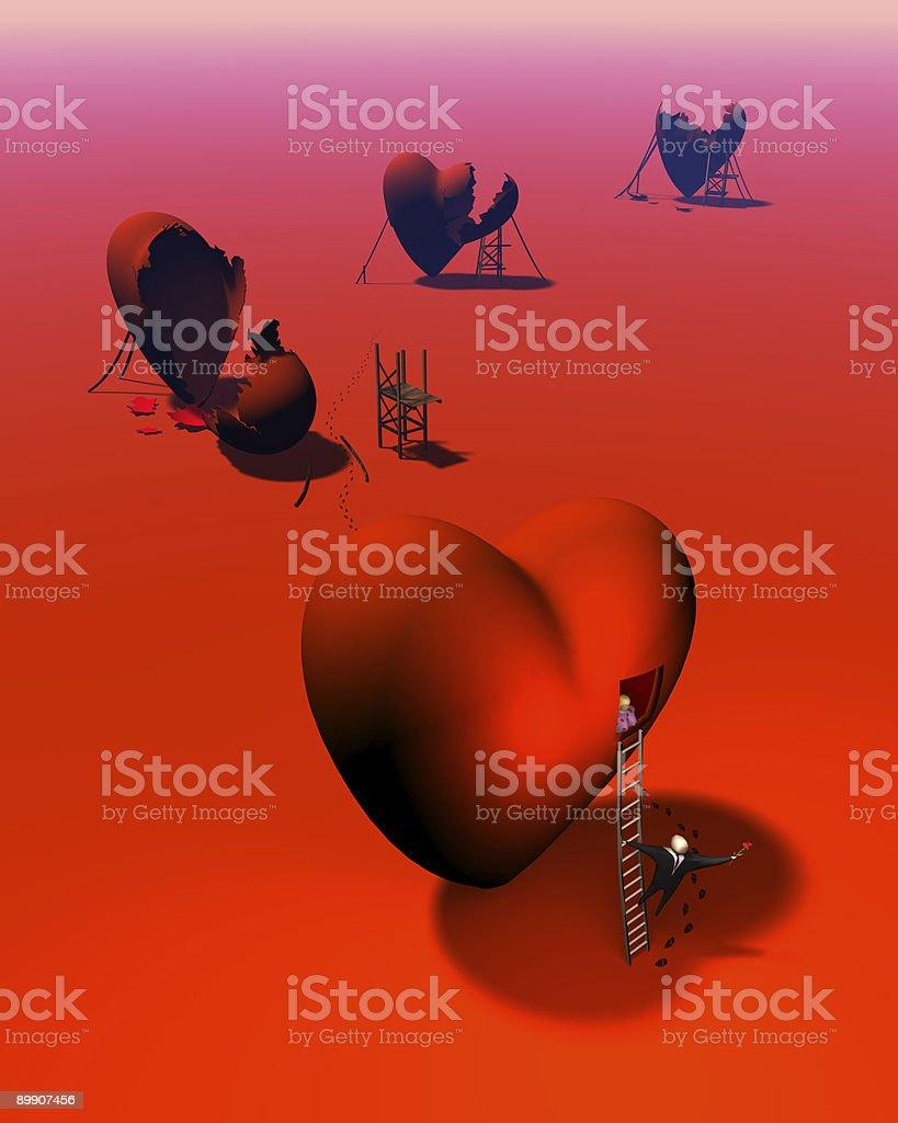 Trail of Broken Hearts royalty-free stock photo