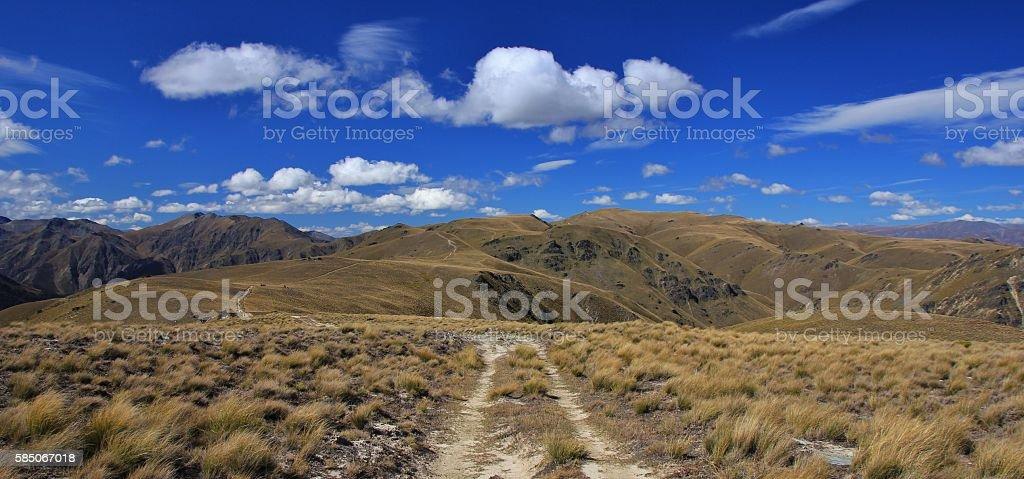 Trail of the Breast Hill Track, Otago stock photo