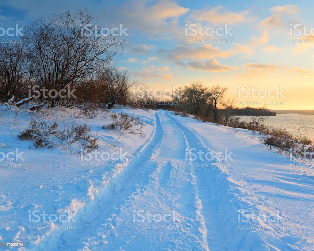 Sendero de invierno foto de stock libre de derechos