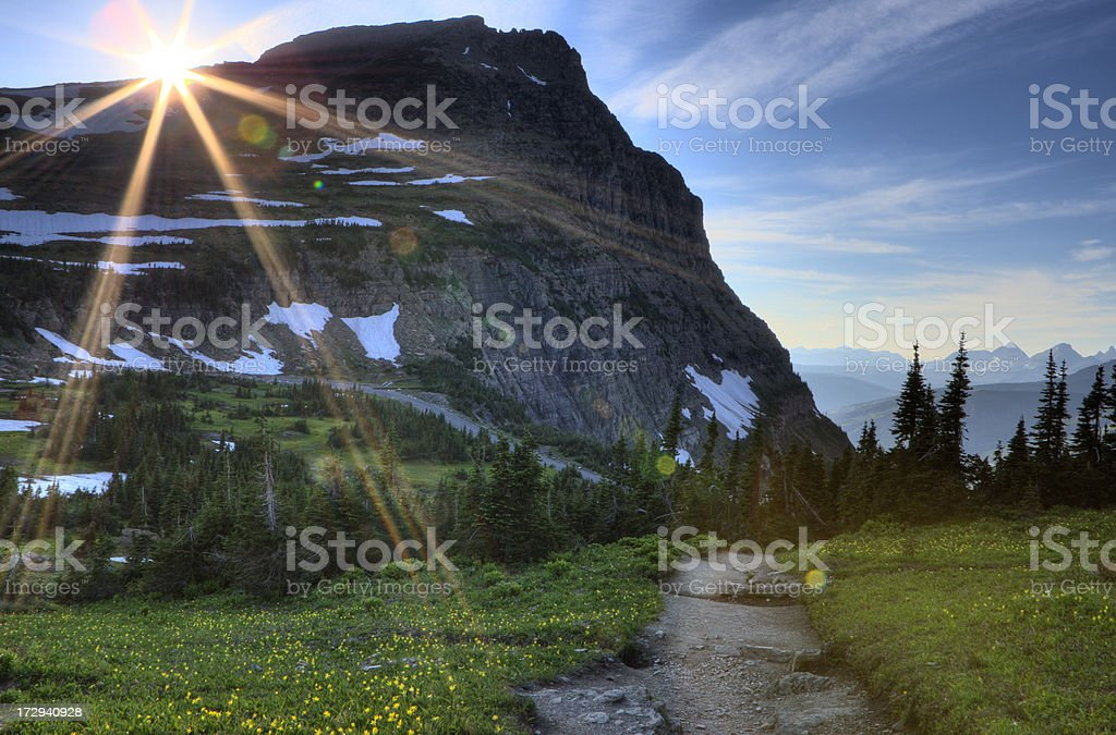 Trail on Logan Pass royalty-free stock photo