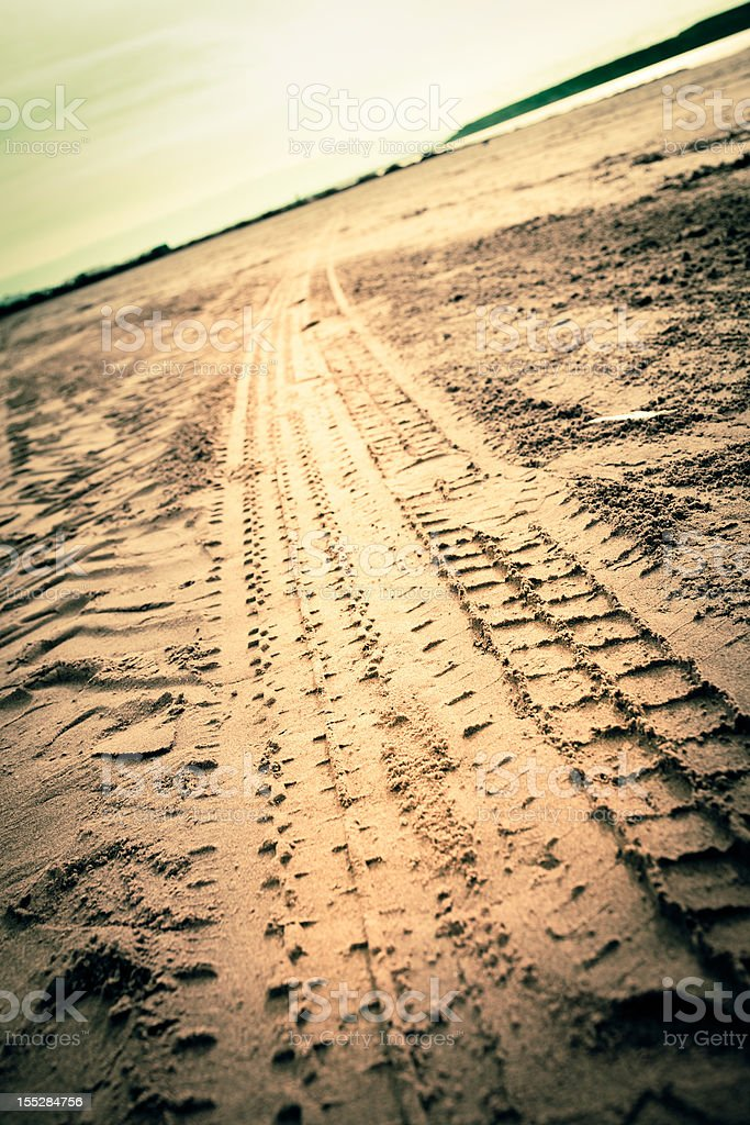 Trail on the beach royalty-free stock photo