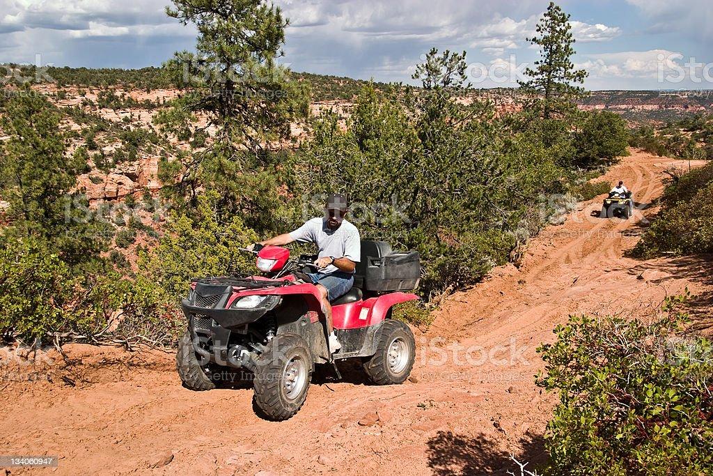 ATV Trail royalty-free stock photo