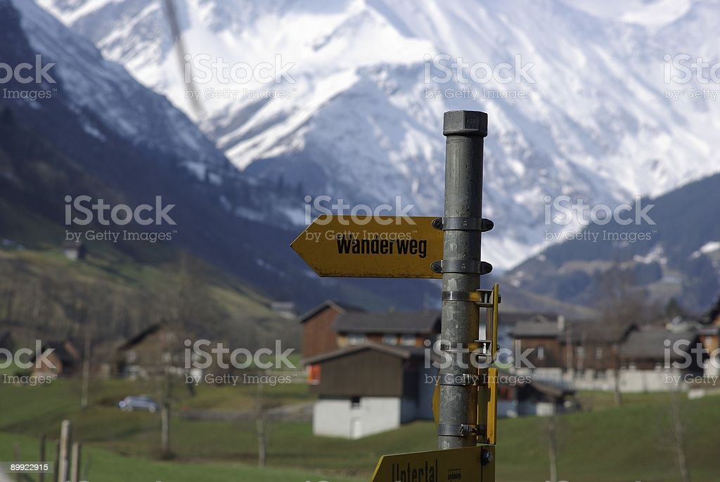 Wanderweg royalty-free stock photo