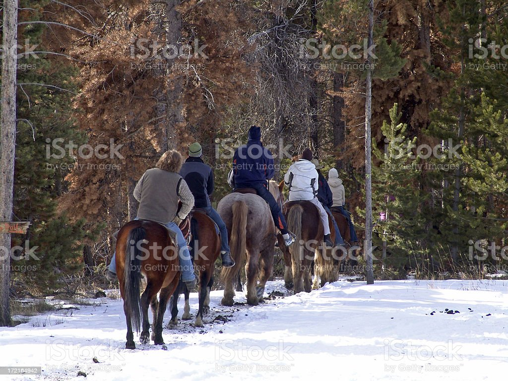 Trail Riders royalty-free stock photo