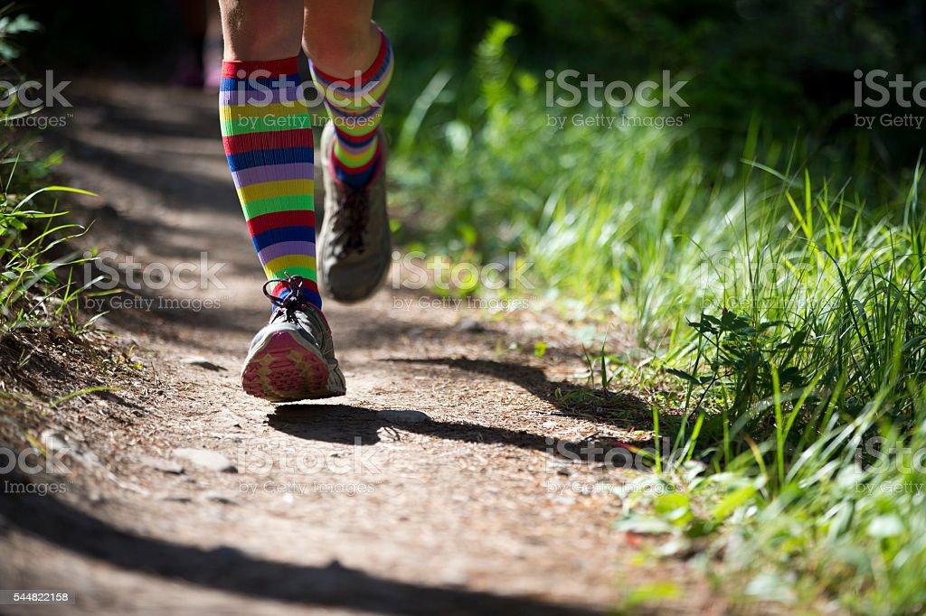 Trail Runner Girl stock photo