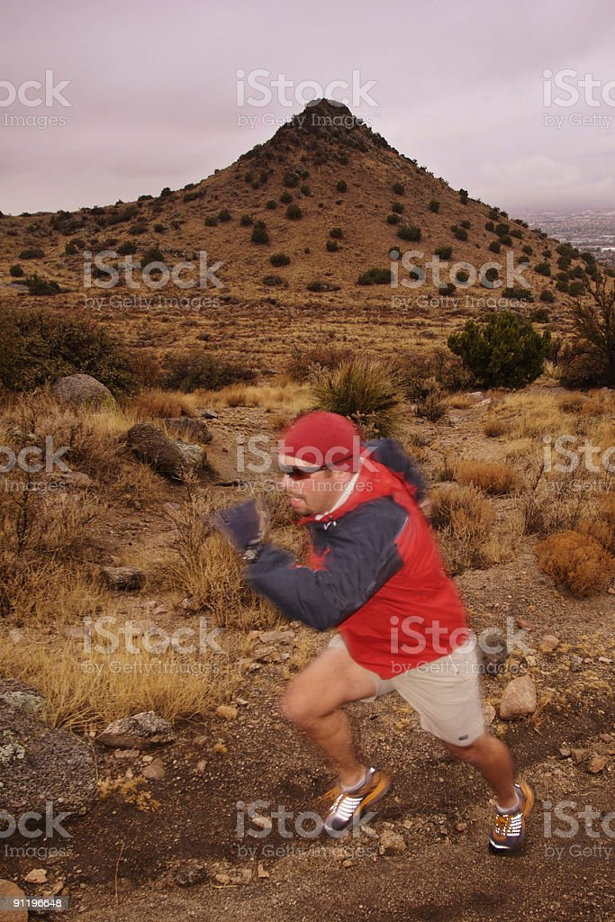 trail runner in motion! royalty-free stock photo