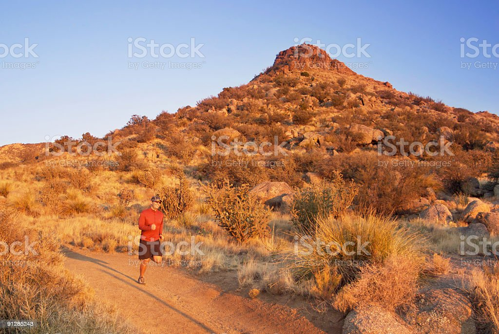 trail runner in motion royalty-free stock photo