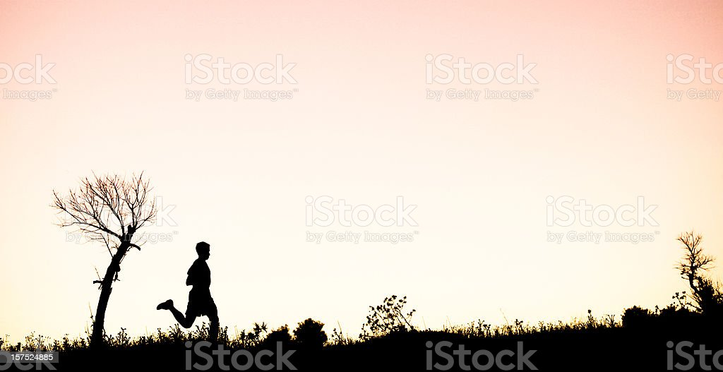 Trail Runner royalty-free stock photo