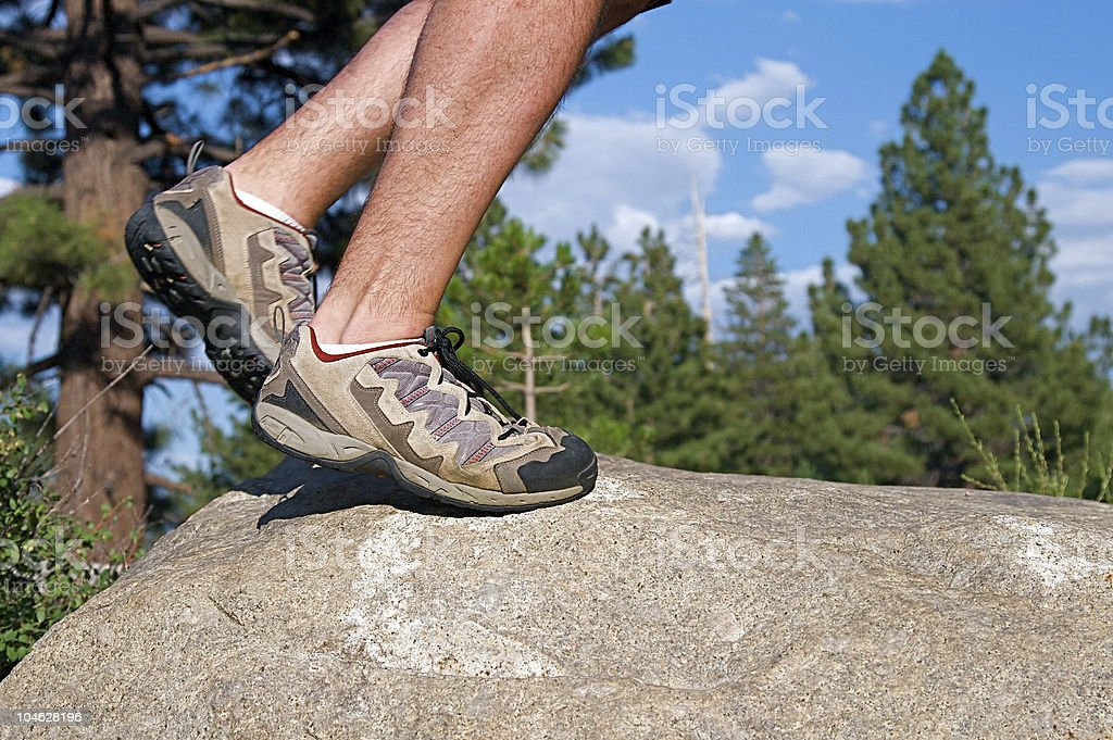 Trail Running royalty-free stock photo