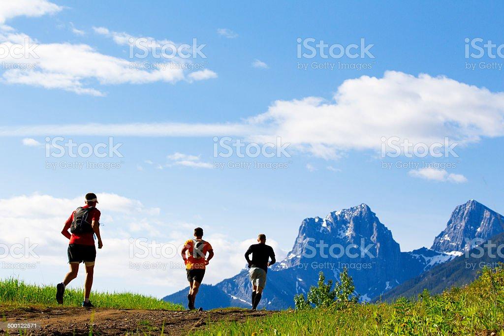 Trail Running Race stock photo