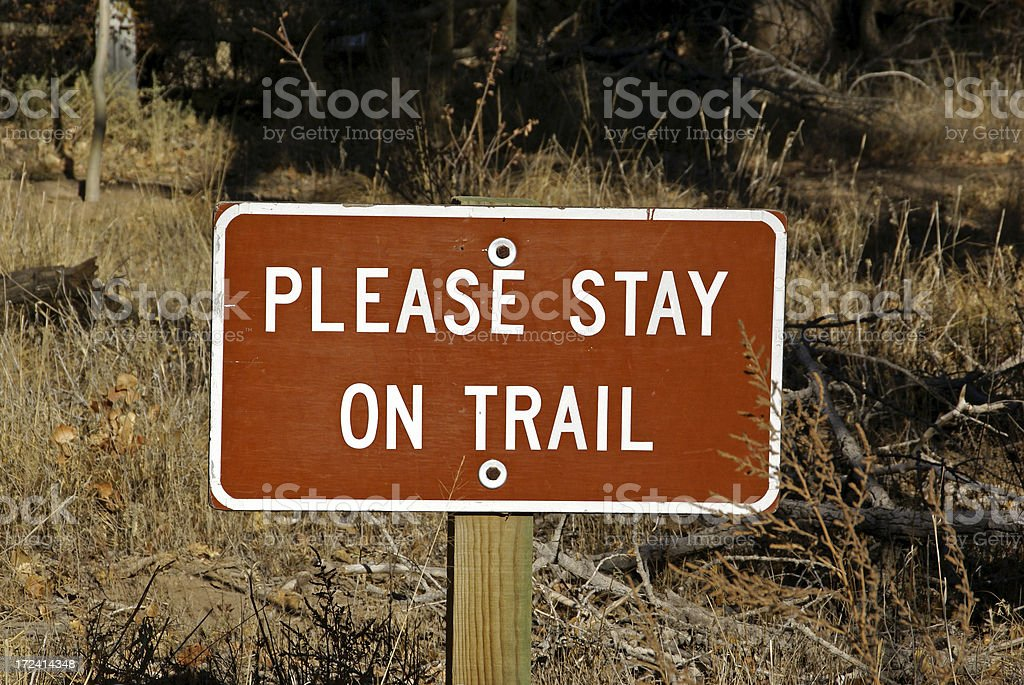 Trail Sign royalty-free stock photo