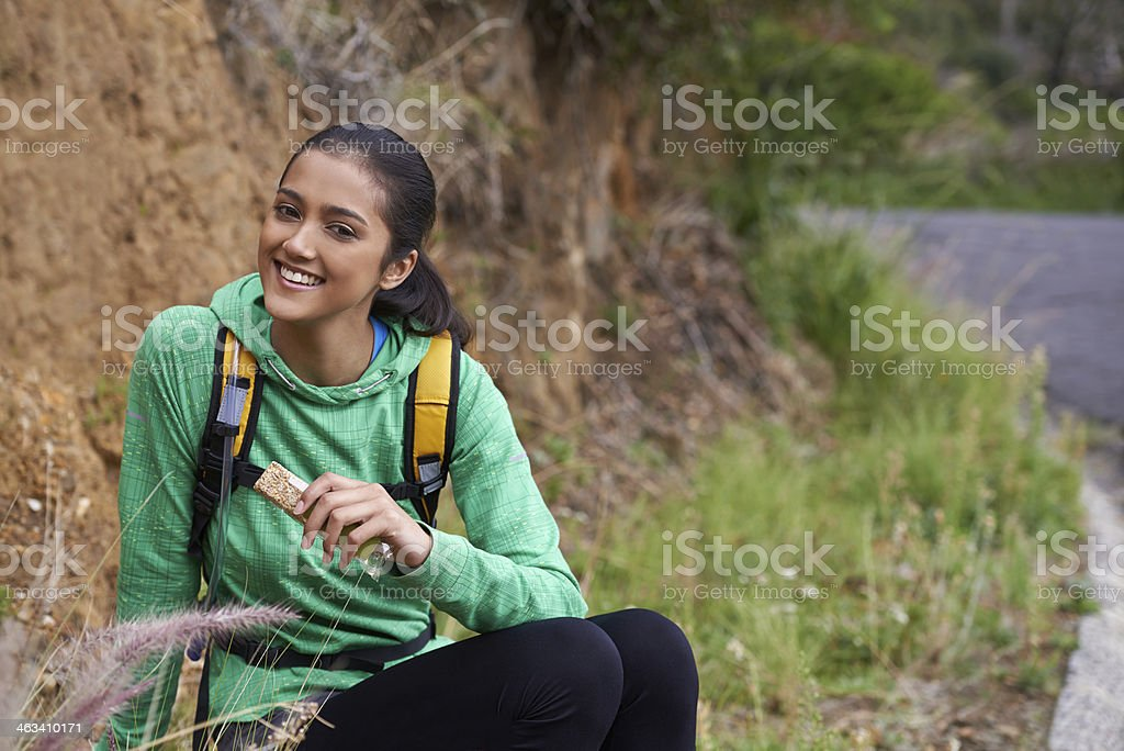 Trail snack stock photo