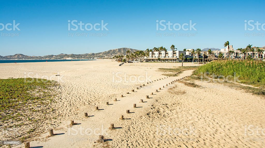 Trail to estuary  viewing station in San Jose del Cabo stock photo