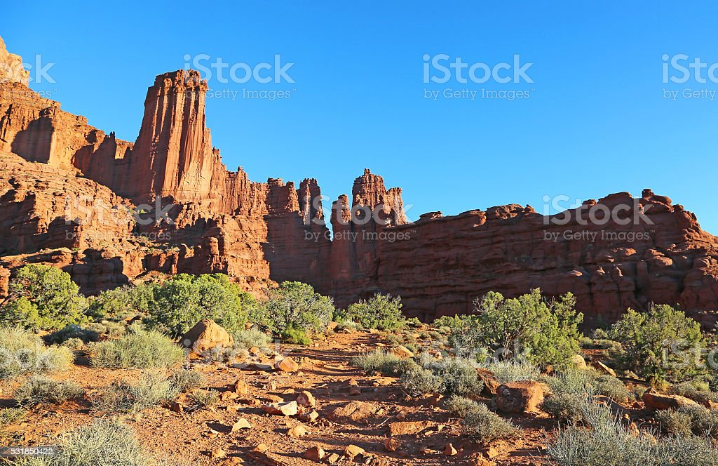 Trail to Fisher Towers stock photo