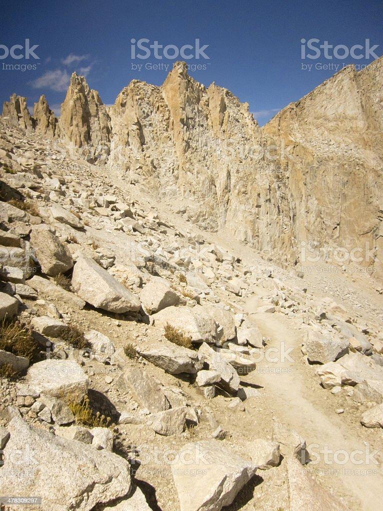 Trail to Mt Whitney Summit stock photo