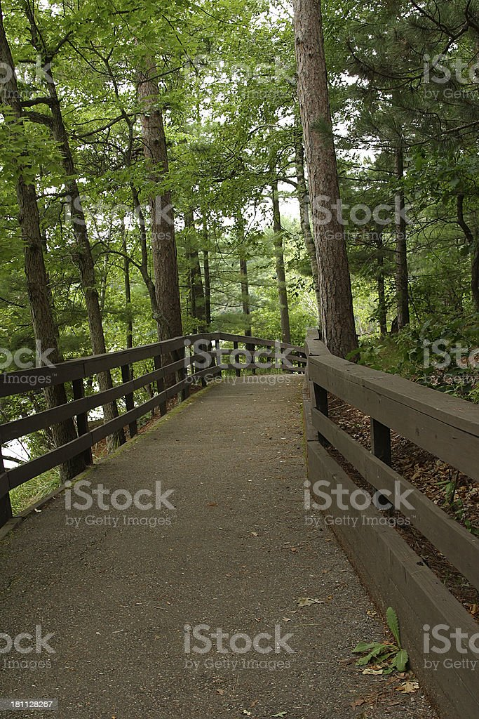 Trail to nowhere royalty-free stock photo