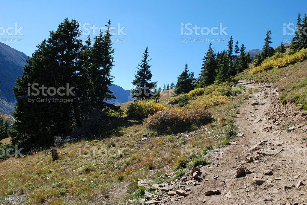 Trail to Quandary Peak royalty-free stock photo