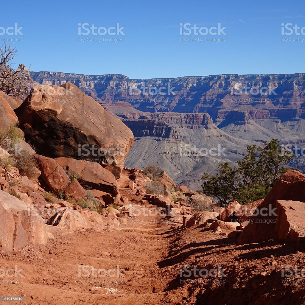 Trail to the Bottom. stock photo