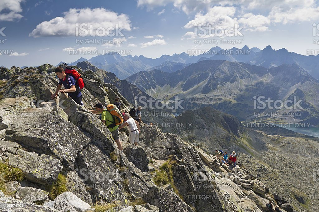 Trail to the Swinica Peak, Tatra Mountains stock photo