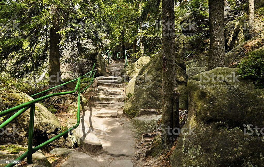 Trail to the Table Mountains stock photo