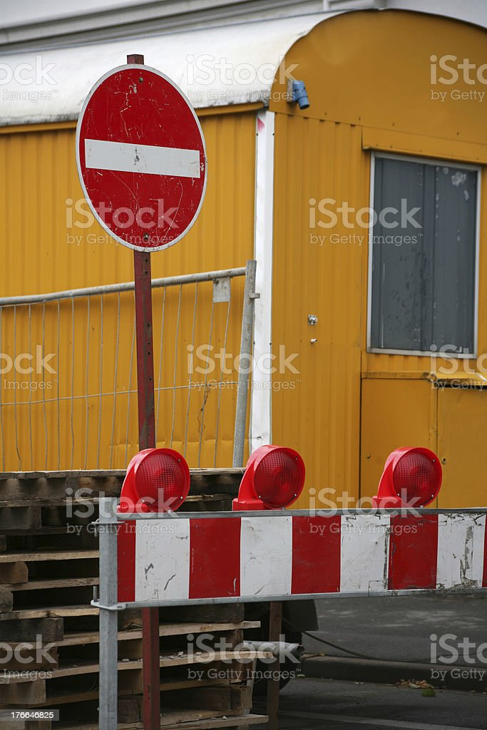 Trailer at a construction site royalty-free stock photo